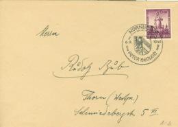 Deutsches Reich 819 Auf Brief Sondertstempel Nürnberg - Poststempel - Freistempel