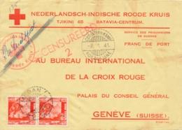 Nederlands Indië - 1941 - Censored Red Cross POW Cover Van CDT-INTERN.KAMP KOETATJANE Naar Geneve / Schweiz - Nederlands-Indië