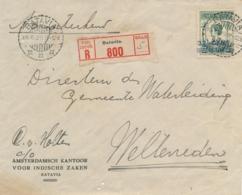 Nederlands Indië - 1929 - 32,5 Op 50 Cent Wilhelmina, R-Business Cover Van LB Batavia Naar Weltevreden - Nederlands-Indië