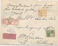 Nederlands Indië - 1931 - 47,5 Cent Frankering Op R-Valeur Déclarée Cover Van Magelang Naar Leiden / Nederland - Nederlands-Indië