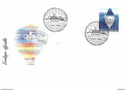 """121 - 72 - Enveloppe Avec Oblit Spéciale """"Chateau D'Oex Semaine Internaitonale De Balloons à Air Chaud 2003"""" - Marcophilie"""