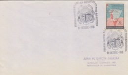 Polaire Argentin, 14 OC 68  N° 806 (carte Des Stations Radio) Obl. Cachet Illust. 1° Expo Phil. Antarctique - Covers & Documents