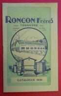 1930 Catalogue Roncon Frères Tonnerre Illustré Bee Honey Hive Catalog Bienenhonig Katalog Imp Garnier St Maixent - Publicités