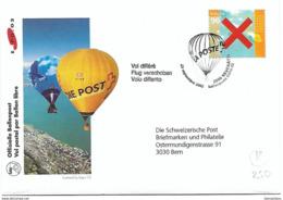 """201 - 12 - Enveloppe Avec Oblit Spéciale """"Vol Ballon Expo 02 2002 - Vol Différé"""" - Marcophilie"""