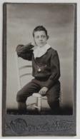 Portrait Garçon Robert Dité Leclère Photographe Auguste Petit Nouvelles Galeries à La Ménagère Paris Format Mignonette - Personnes Identifiées
