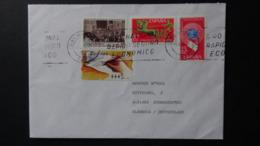 Spain - 1971/95/96 - Mi:ES 1936-7,3257,AT10 - Yt:ES E36-7,2991, DI12A On Envelope - Look Scan - 1991-00 Briefe U. Dokumente
