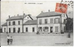 SENONES  88 VOSGES 126 LA GARE EDIT. CH. CABLE CACHET FACTEUR AU VERSO LETTRE D - Senones