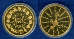 Medaille ECU 1995 40mm Vergoldet PP - [ 7] 1949-…: BRD