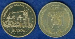 Medaille 750 Jahre Bützow Ehemaliges Schloss 35mm - [ 6] 1949-1990: DDR