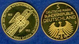 BRD Medaille Germanisches Museum 29mm Vergoldet - [ 7] 1949-…: BRD
