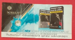 ROMANIA-CIGARETTES  CARD,NOT GOOD SHAPE,0.79 X 0.40 CM - Unclassified