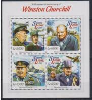Sierra Leone 2015 Charles De Gaulle Sir Winston CHURCHILL  MNH - De Gaulle (General)
