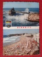 POSTAL POST CARD CARTE POSTALE BIARRITZ FRANCIA DIVERSOS ASPECTOS PHARE FARO LIGHTHOUSE FRANCE PLAGE LE ROCHER VIERGE... - Francia