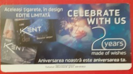 ROMANIA-CIGARETTES  CARD,NOT GOOD SHAPE,0.84 X 0.43 CM - Unclassified