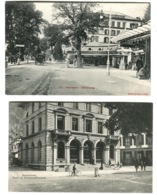 2 AK INTERLAKEN Post- U. Telegrapohenamt + Höhenweg Mit Leben Um 1908 - BE Bern