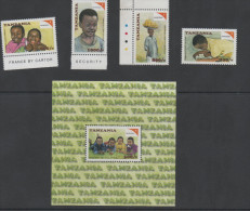 TANZANIA ,2001, MNH,WORLD VISION, EDUCATION, CHILDREN  RIGHTS,4v+S/SHEET - Childhood & Youth