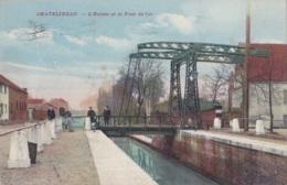 Châtelineau L'Ecluse Et Le Pont De Fer Circulée En 1914 Avec Cachet De Fortune De Montignies Sur Sambre Voir Verso - Chatelet