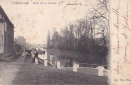 Châtelineau Bord De La Sambre Circulée En 1905 - Châtelet