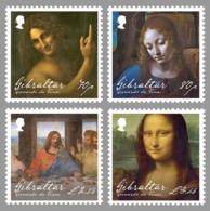 Gibraltar (2019) Leonardo Da Vinci (500th Anniversary Of Death) - Set Of 4 Stamps (MNH) - Celebrità
