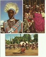 Ruanda-Urundi - 3 Cartes - Voyage Du Roi Au Congo été 1955.  (2 Scans) - Ruanda-Urundi