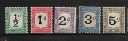 South Africa, Postage Due, 1914 -1922, 1/2d - 5d, MH *, 2d Has A Thin - Postage Due