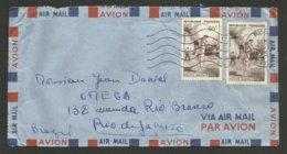 40F Pelote Basque X 2 / Lettre Avion >>> BRESIL /  PARIS 23.12.1956 - 1921-1960: Moderne