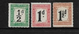 South Africa, Postage Due, -1922, 1/2d , 1d, 1 1/2d, Rouletted,, MH *, - Postage Due