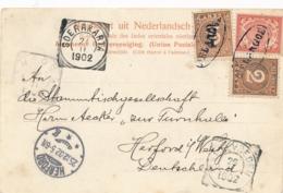 Nederlands Indië - 1902 - 7,5 Cent Frankering Op Ansicht Van DELANGOE (in Ovaal) Naar Herford / Deutschland - Nederlands-Indië