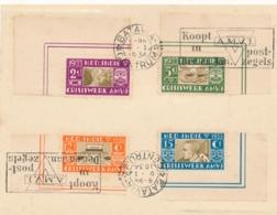 Nederlands Indië - 1934 - AMVJ-serie Met Machinestempel Koopt AMVJ Zegels Op Kaartje Van Batavia - Geen Adres - Nederlands-Indië