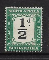 South Africa, Postage Due, 1927, 1/2d, MNH **, - South Africa (...-1961)