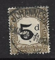 South Africa, Postage Due, 1915, 5d, C.d.s Used - South Africa (...-1961)