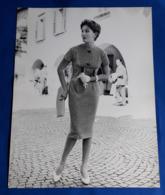 Vintage MODE/FASHION MODEL Photo, Ca. 23,5 X 30 Cm, Portrait Einer Hübschen Frau, Jolie Femme, Pretty Woman [19-1465] - Pin-Ups