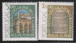 PORTUGAL - N°1385/6 ** (1978) Municipalité De Chaves - Ungebraucht