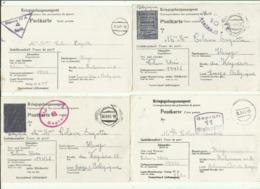 Correspondance Des Prisonniers De Guerre STALAG IV A    (4 Lettres Voir Scan) - Marcophilie