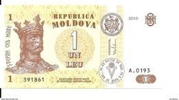 MOLDAVIE 1 LEU 2010 UNC P 8 H - Moldavie