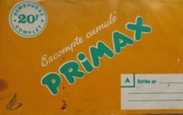 CARNET DE TIMBRES-ESCOMPTE PRIMAX - PRIMAXOR Vers 1960 - Advertising