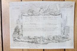 Diplôme Sur Velin 1788 Autographe Du Comte De Brienne Récompense Militaire - Documenti Storici