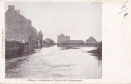 Châtelet Innondations Du 27 Février 1906 La Gendarmerie Circulée En 1906 - Châtelet