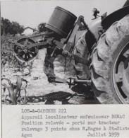 Agriculture - Photographie - Saint-Sixte 82 - Champ Maïs Tracteur - Benac - Exploitation M. Magne - 2 Photos - Landbouw