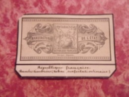 Etiquette Bande Taxe Droit Impots Cigarillos .. Tabac.. Type Sage .TABAC  SCAFERLATI ORDINAIRE - Fiscaux