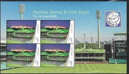 AUSTRALIA, 2019, MNH, SPORTS VENUES, SYDNEY CRICKET GROUND, TREATY OF VERSAILLES, WWI, SHEETLET - Cricket