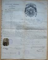 Passeport Belge Visa 1919 - Documents Historiques