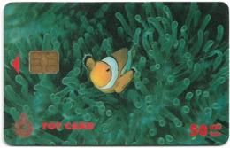 Thailand - TOT (Chip) - Clown-fish - 50Baht, Exp. 07.2003, Used - Thailand