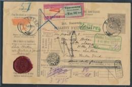 Rumänien Paketkarte In Die Schweiz    (zu1668  ) Siehe Scan - 1881-1918: Charles I