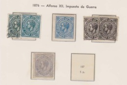 Año 1876  Edifil 183 A 186 Alfonso XII - 1873-74 Regentschaft