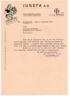 1938 YUGOSLAVIA, CROATIA, ZAGREB TO VRSAC, JUGEFA, PLANT PROTECTION, LETTERHEAD - Invoices & Commercial Documents