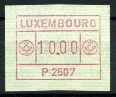 Luxembourg 1983 Mi. 1 Zzc Neuf ** 100% ATM, Etiquettes Automatiques - Frankeervignetten