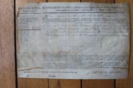 Tresor Royal Sur Velin 1785 Autographe De Laborde  De Mereville - Documenti Storici