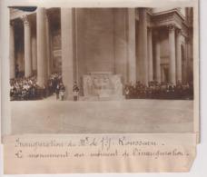 INAUGURATION MONUMENT DE JJ ROUSSEAU MOMENT   18*13CM Maurice-Louis BRANGER PARÍS (1874-1950) - Personalidades Famosas