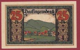 Allemagne 1 Notgeld De 25 Pfenning Stadt Darlingerode (RARE) Dans L 'état N °4723 (SERIE COMPLETE) - Collections
